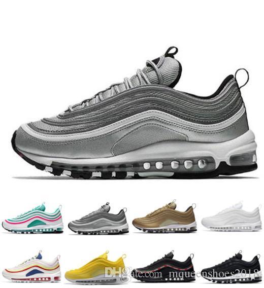 Descuento 97 zapatos corrientes de bala OG barato Hombres Mujeres cojín suave invicto de plata oro metálico Calzado deportivo atlético correr al aire libre zapatilla de deporte