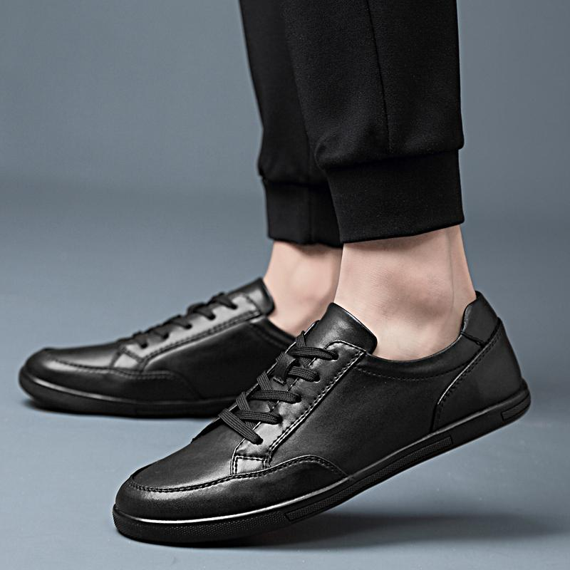 genuínos homens de couro sapatos respirável masculinos Flats Casual oxfords de Moda de Nova mola outdoor outono respiráveis Shoes