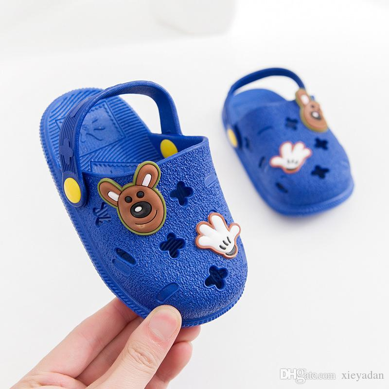 2019 Fashion New Summer Children Cartoon Characters Cave Shoes Boys And Girls Slippers sandals two wear Antiskid Slippers Beach