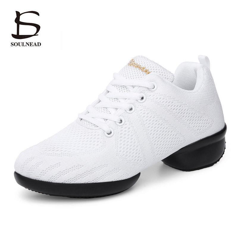 Kadın Dans Ayakkabıları nefesini Kadın Sports Dans Sneakers Yumuşak dış taban Hip-hop Caz Dans Spor Sneakers Kadın Ayakkabı Özelliği