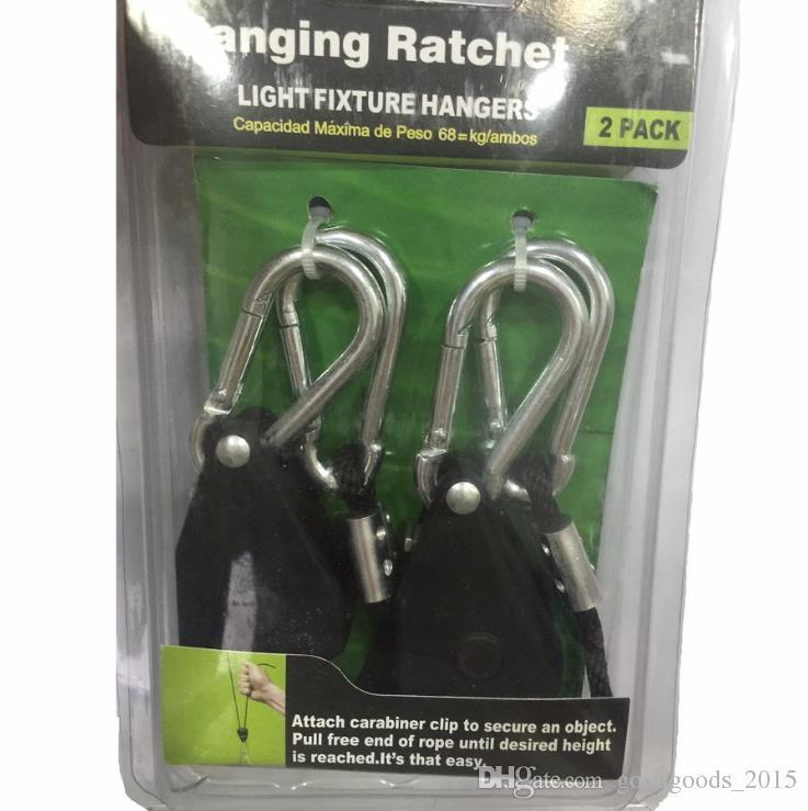1/8 Inches Rope Ratchet 2 pieces 1 pack Reflector Grow Light Hangers Light Lifters c675