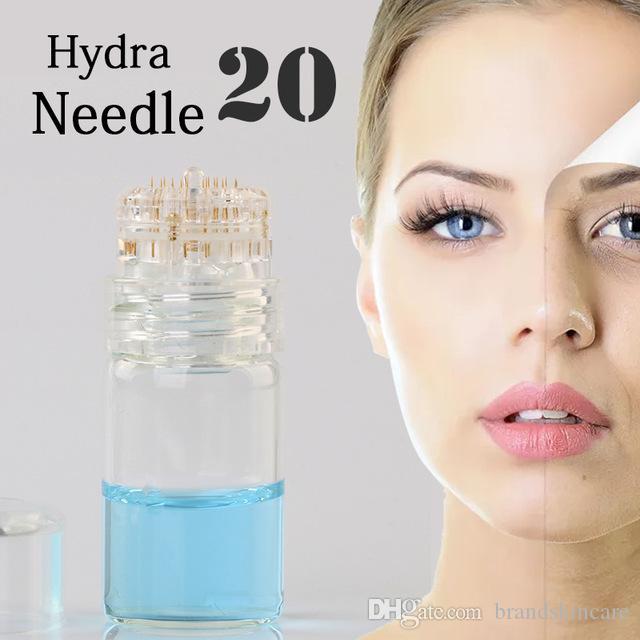 HYDRA iğne 20 Titanyum iğne İpuçları Için Mikro Damga Terapi Cilt Bakımı Anti Aging Serum Enjeksiyon Kullanımlık