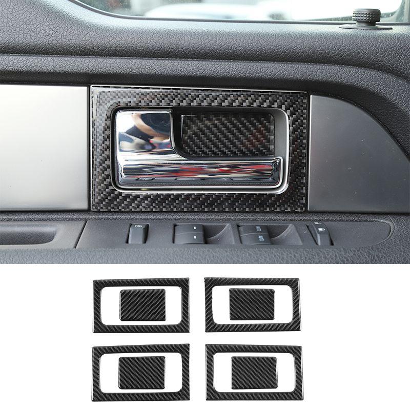ABS-Auto-Innentür-Griff-Abdeckung Dekorationsbesatz für Ford F150 Raptor 2009-2014 Innenzubehör