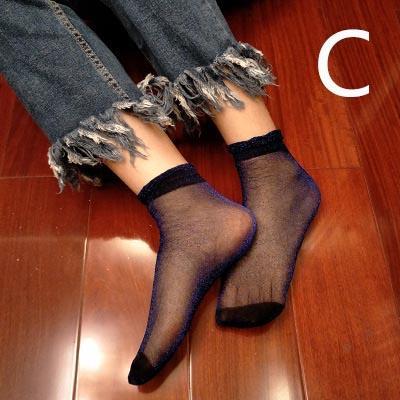 Progettista delle donne della molla delle nuove signore sexy calze di modo sottile calza calzini di lusso per ragazze 2020 Trend 10 colori Vendita calda all'ingrosso