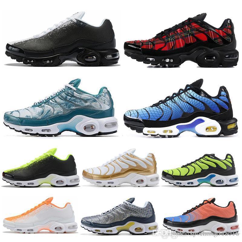 tn hotsale Plus SE hombres zapatos para correr voltios Greedy Hyper carmesí Triple tartán Blanco Negro Hombres de diseno deportes atléticos zapatillas de deporte del tamaño 40-45