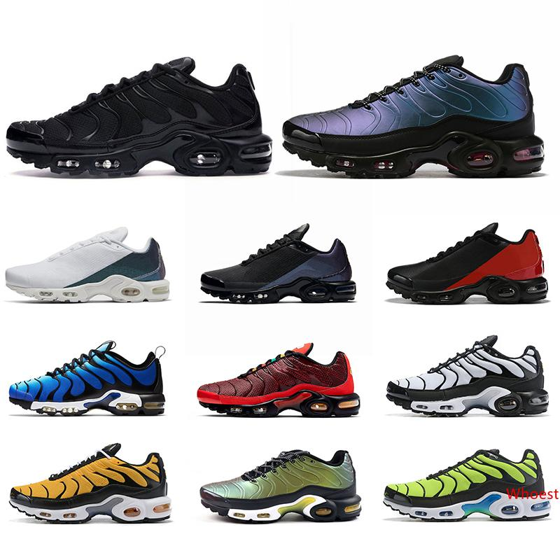 Tn Plus Ultra SE Mercurial Men Running Shoes Chaussures Triple Black White Volt Hyper Blue Mens Trainer Sneakers Sports Size 7-11 Wholesale
