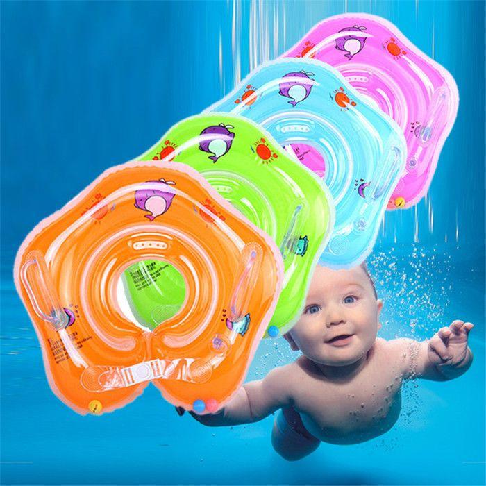 Плавательный детские бассейны аксессуары детские надувные кольца детские шеи надувные колеса для новорожденных купания круг безопасности шеи Float DLH058