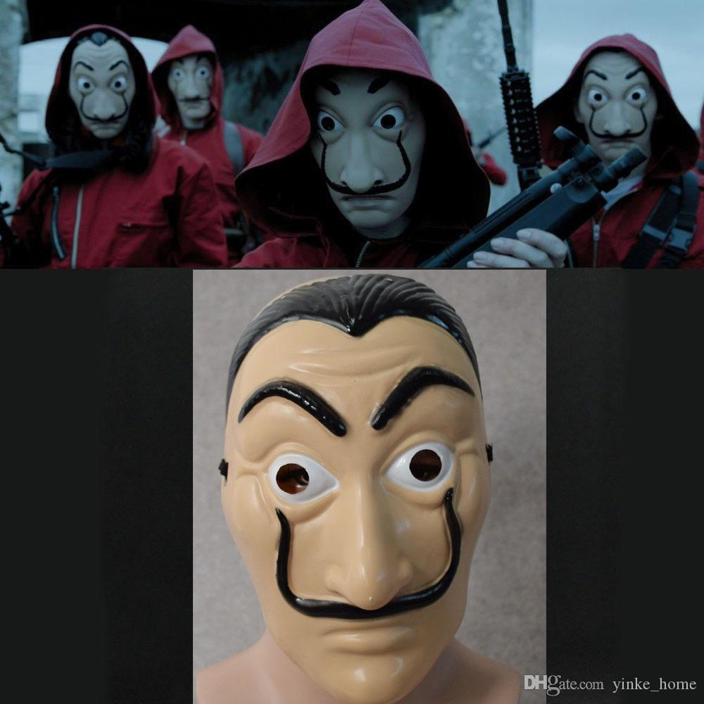 할로윈 코스프레 파티 마스크 라 카사 드 PAPEL 얼굴 살바도르 달리 의상 영화 마스크 현실적인 가면극 돈 강도 짓 소품 마스크