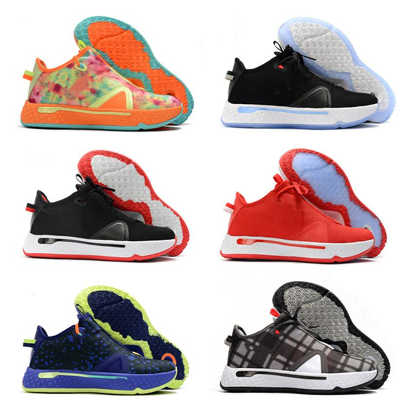 Alta quelity Paul George PG 4 di pallacanestro delle scarpe da tennis Zipper Zoom Uomini uomo bianco blu 4s Sport 2020 nuovo arrivo pattini atletici
