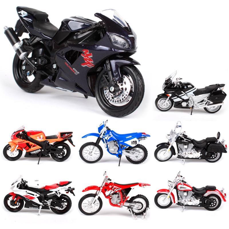 مايستو 1:18 لعبة سبيكة دراجة نارية نموذج yzf r1 r6 fjr 1300 yz 450F الطريق نجمة مجموعة الأولاد اللعب سيارات هدية