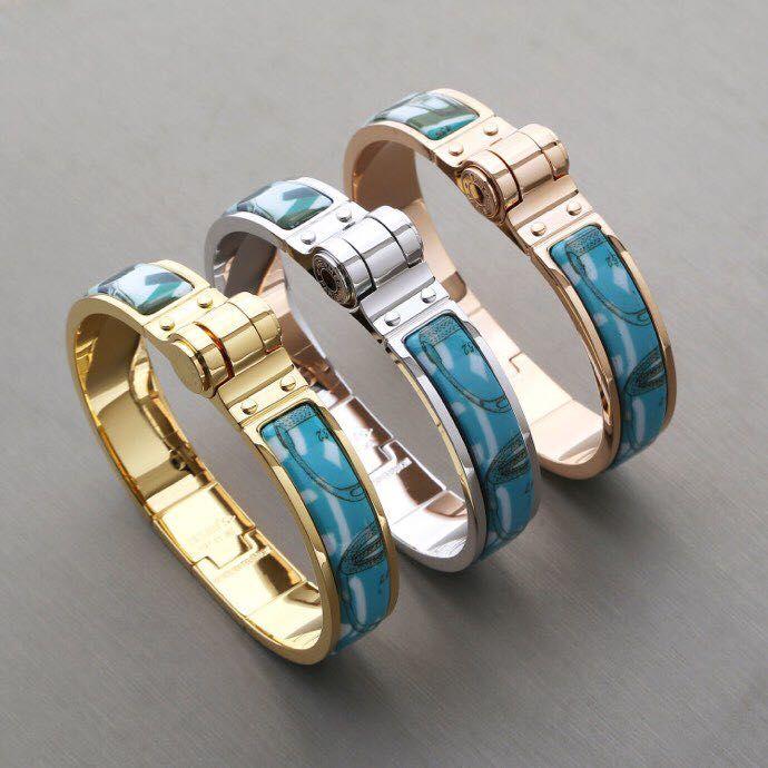 2019 mujeres de lujo de la joyería de diseñador de pulseras encanto de la moda hebilla azul pulsera del diseñador pulsera brazalete h