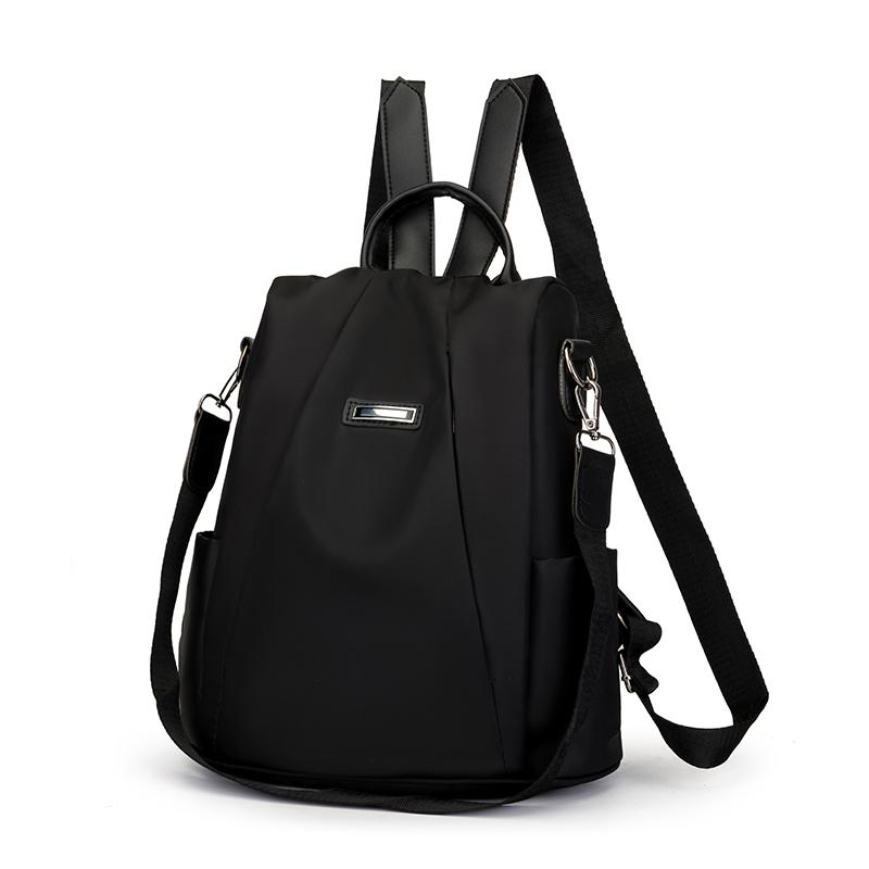 Impermeabile multifunzionale Zaino Torna Carino Donne Anti Theft Oxford Solid Softback viaggio zaino Bookbag Bag Confezione