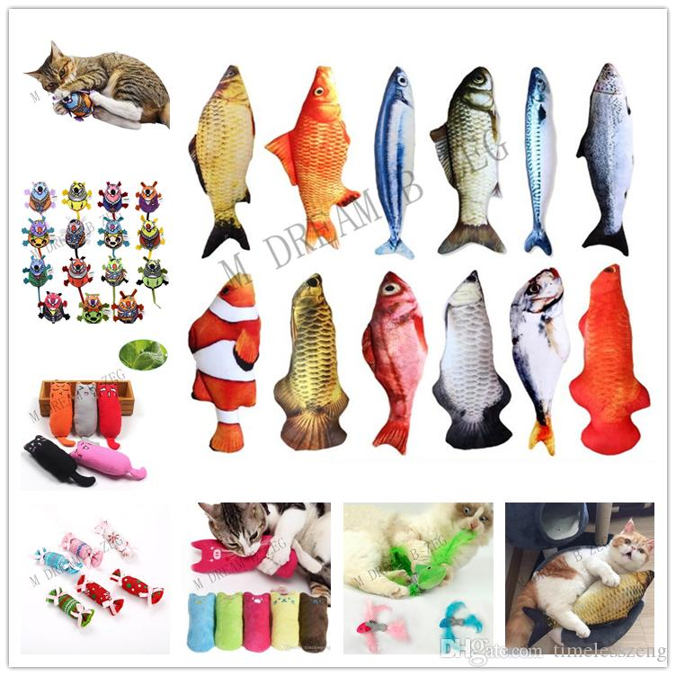 Interactive Fancy Cat Toy Cute Pet Cats Teeth Catnip Toys Cat Pillow Plush Sleeping Cushion Pets Supplies Gadget Free Shipping