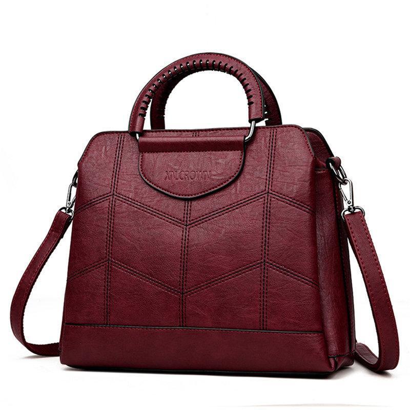 Totalizador de cuero bolsos de lujo bolsos de las mujeres bolsos del diseñador Bolsos de Crossbody de la alta calidad para las mujeres 2019 Sac A Main Ladies Hand Bag Y190626