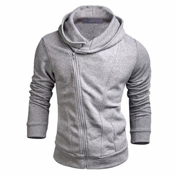 패션 겨울 가을 그레이 블랙 남성 슬림핏 섹시 탑 후드 스웨터 긴 소매 남성 의류 설계