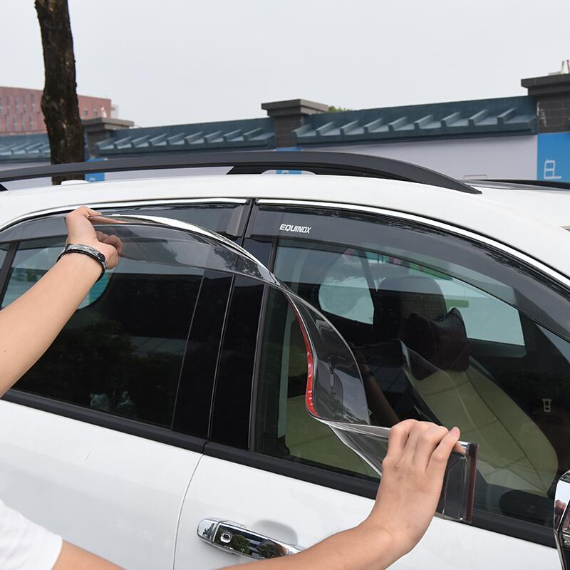 Kust voiture fenêtre pare-soleil Vent pluie Guard Shield pour Chevrolet Equinox 2017 4 PCS Sun Visor pluie Déflecteur Shields Couverture