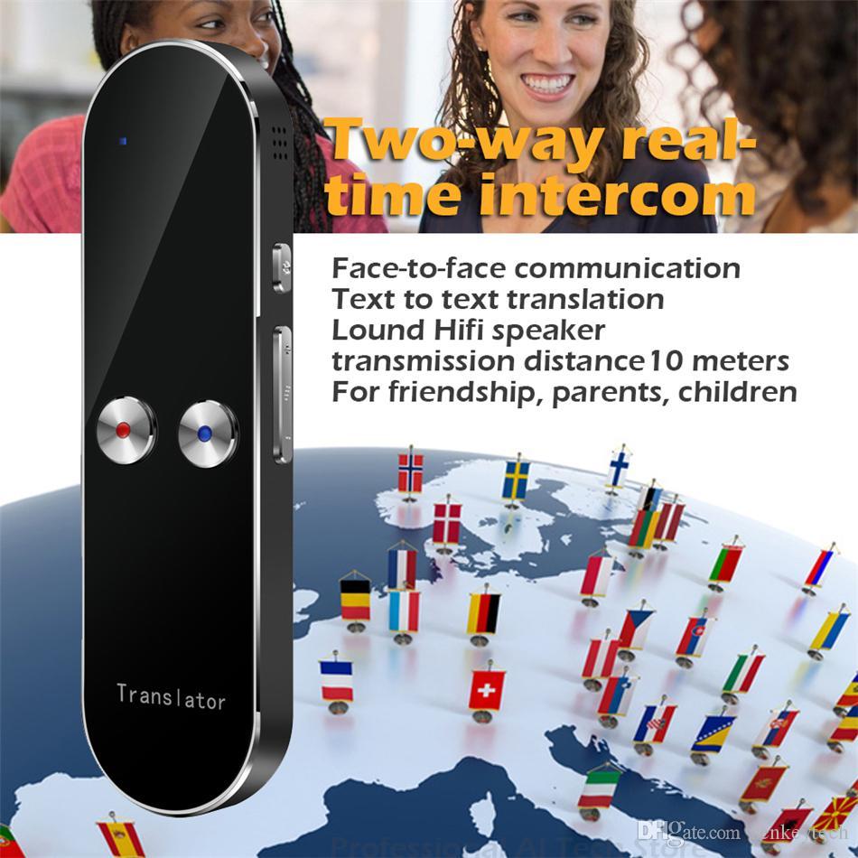 2019 Portable récent K8 Smart Wireless Translator 68 langues bidirectionnelle en temps réel instantanée Voice Translator APP Bluetooth machine intelligente