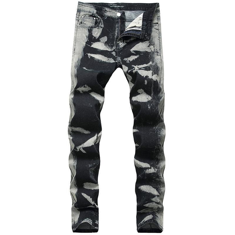 2019 Erkek Tasarımcı Kot Erkek Elastik Ayak Kot Moda Erkek Yüksek Kalite Denim Pantolon Erkekler Biker Jeans