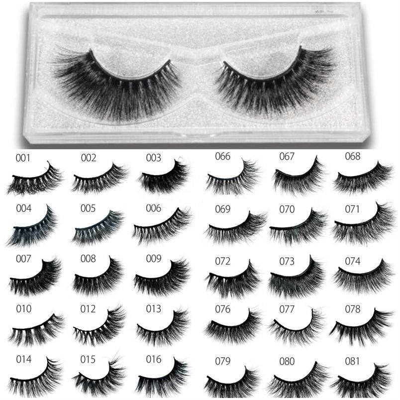 81 Styles 100% 3D Real Mink False Eyelashes Handmade False Lashes Eye Extension Thick False Eyelashes Handmade 3D Crossing Long Eye Lashes