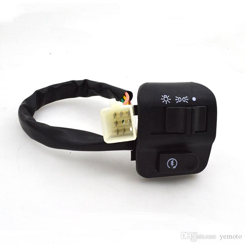 Motosiklet ZY 125 gidon anahtarı Assy Meclisi Elektrikli Start boynuz far sinyal düğmesi Için Yamaha Zy125 ZY 125