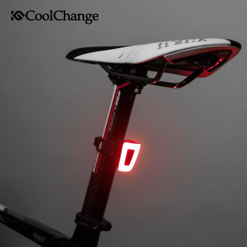 CoolChange vélo léger multifonctions ultra-léger USB Chargable Casque de vélo Bike Feu arrière de sécurité nuit à vélo Accessoires Y191211