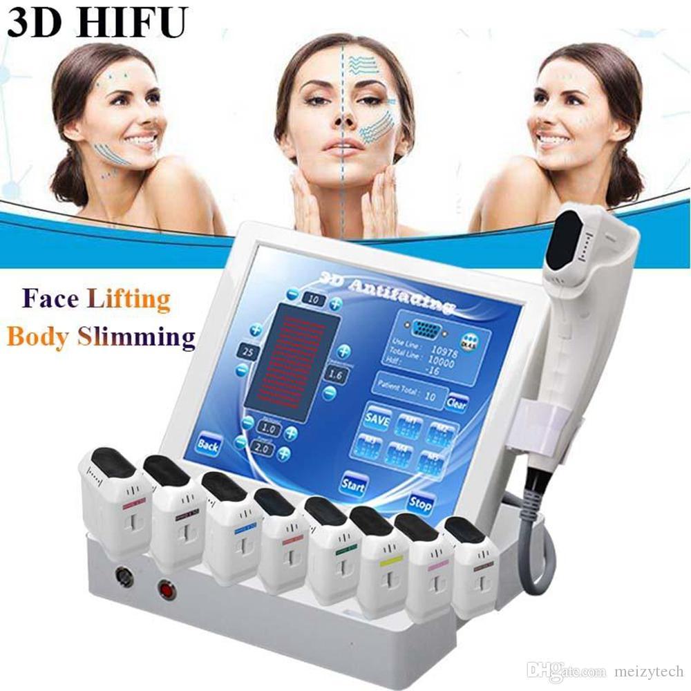 2020 휴대용 3D HIFU 기계 얼굴 리프팅 주름 제거 얼굴 기계 지방 감소 바디 슬리밍 HIFU 기계