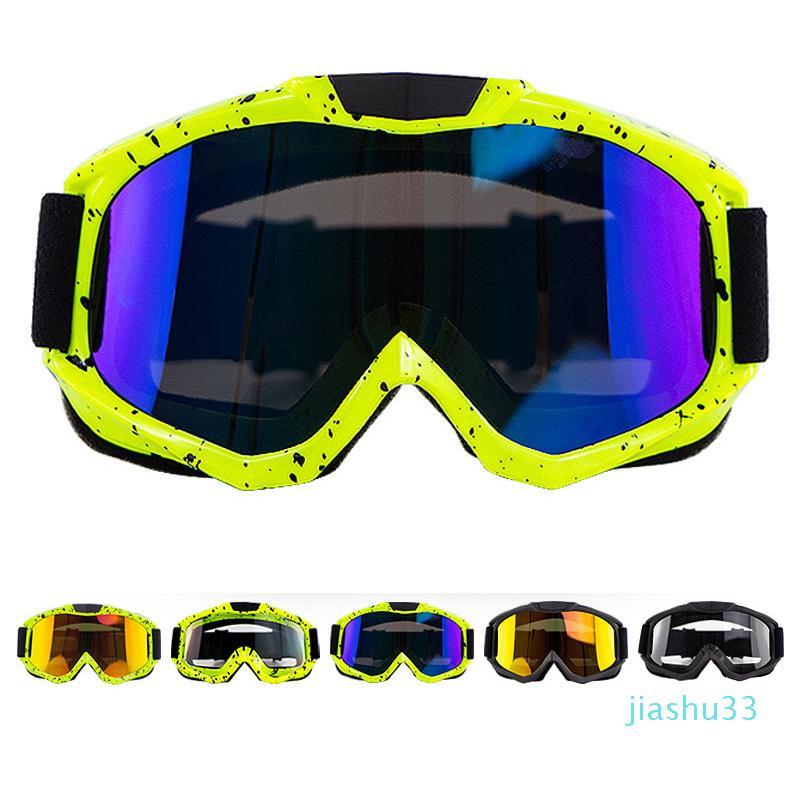 luxo- New Motocross Goggles ATV Off Road Dirt Bike poeira Corrida Óculos Anti Vento Ciclismo Eyewear MX Goggles