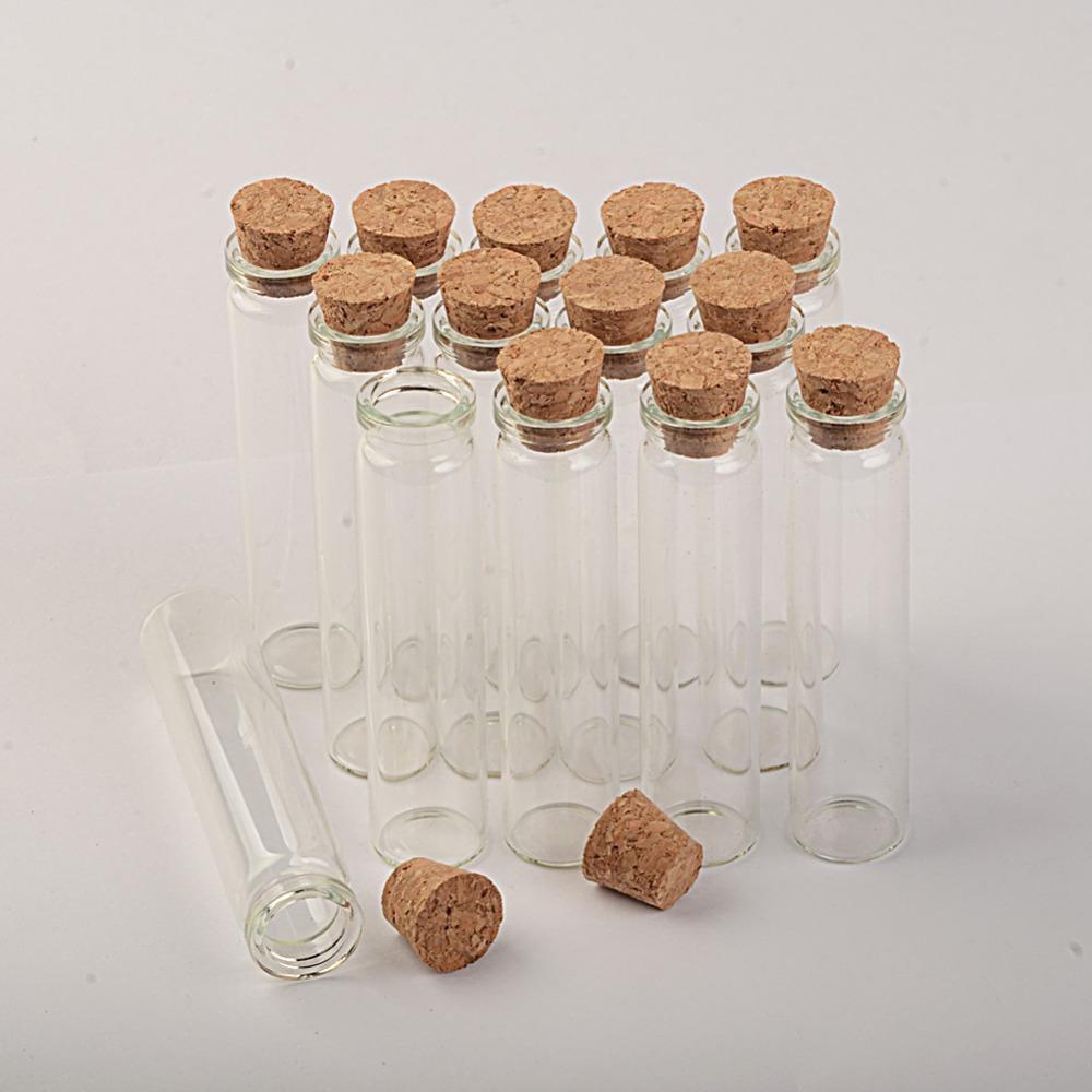 Mini bottiglie di vetro vuote con coperchio di legno di 18 * 80 * 6mm 13ml piccolo vasetti di vetro fiala di vetro 100pcs / lotto Trasporto libero