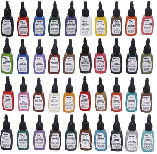 ferro maquiagem kit Permanente borboleta cor de tatuagem de tinta 40 cores C119 linhagem tatuagem pigmento frete grátis set 15ml