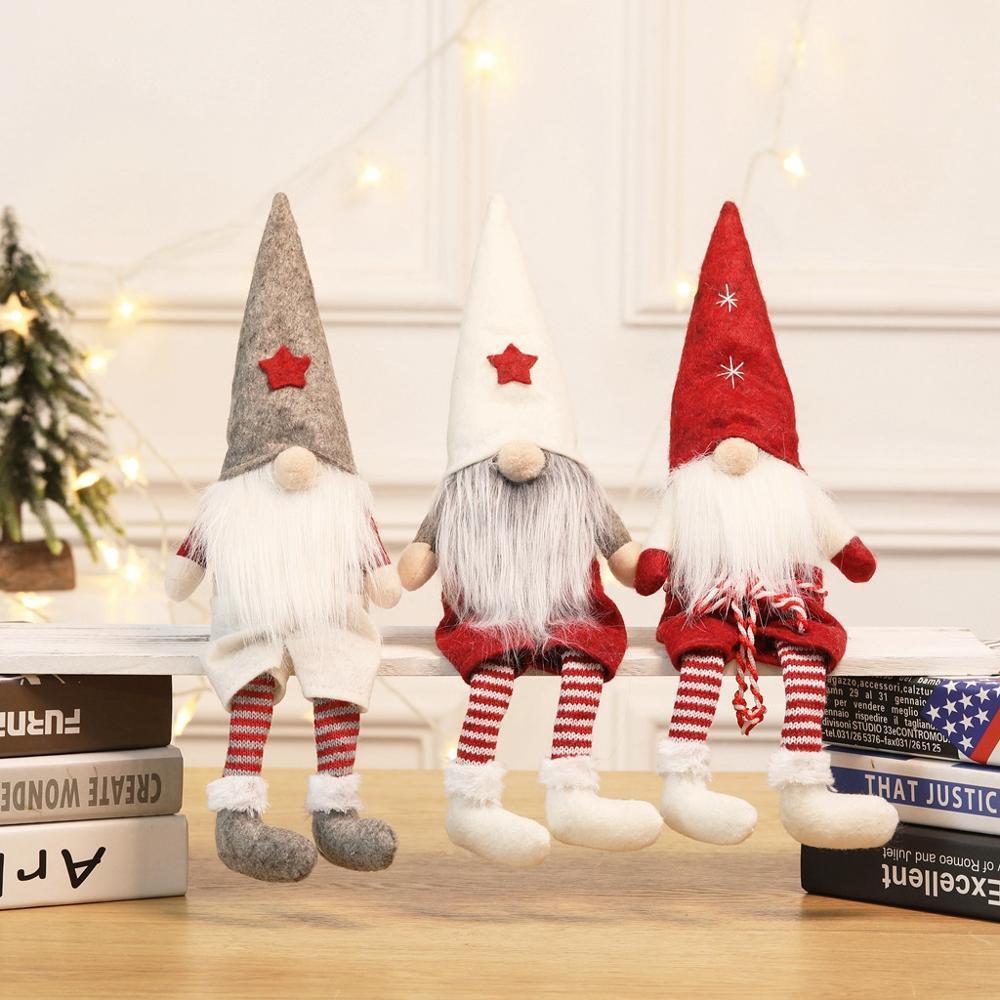 2019 Frohe Weihnachten Dekoration Für Weihnachten Hängende Verzierung Anhänger Gesichtslose Puppe Junge Puppen Fenster Dekorationen Weihnachtsgeschenk Q3