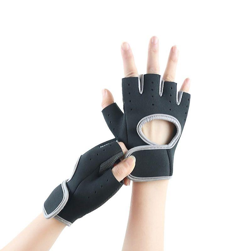 1 пара Мужчины Женщины Фитнес перчатки против скольжения спортивной подготовки Half-Finger турник Велоспорт Тяжелая атлетика Бодибилдинг перчатки
