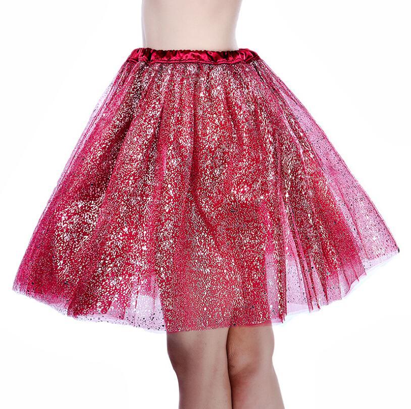 Vestido de bola Mujeres Niñas Fantasía falda del tutú de tul faldas del lunar de una linda falda diáfano para adultos Tutu Prom