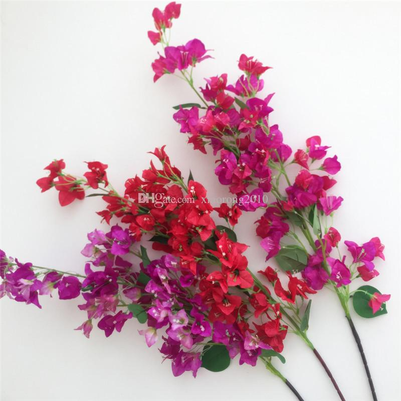 2021 Artificial Bougainvillea Stems Silk Bougainvillea Spectabilis Flower Tree Branches Pink Red White Rose Red Fuchsia For Wedding Centerpieces From Xiaorong2010 3 78 Dhgate Com