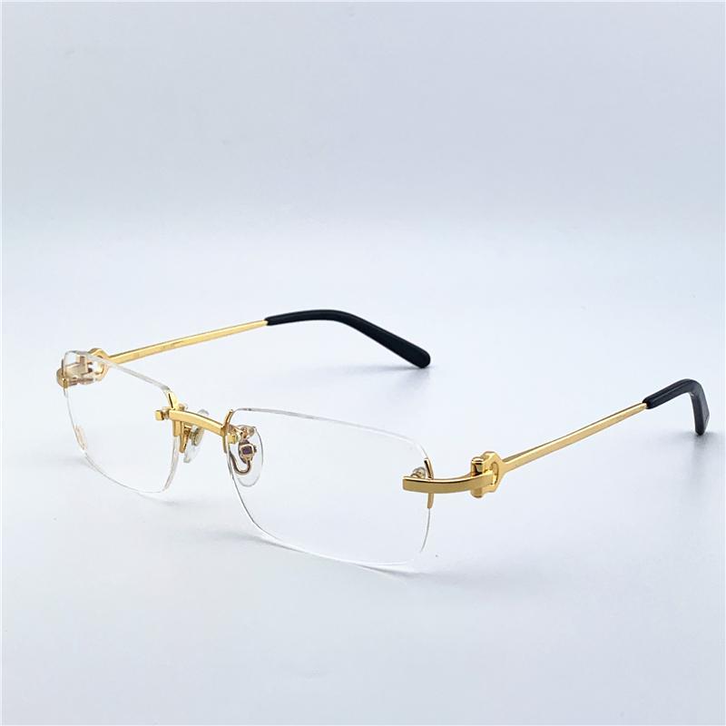 Diseñador de ojos marcos de los vidrios para mujer para hombre del diseñador de moda ópticos del metal retro de la lente clara transparente cuadrado clásico de Eyewear 280088