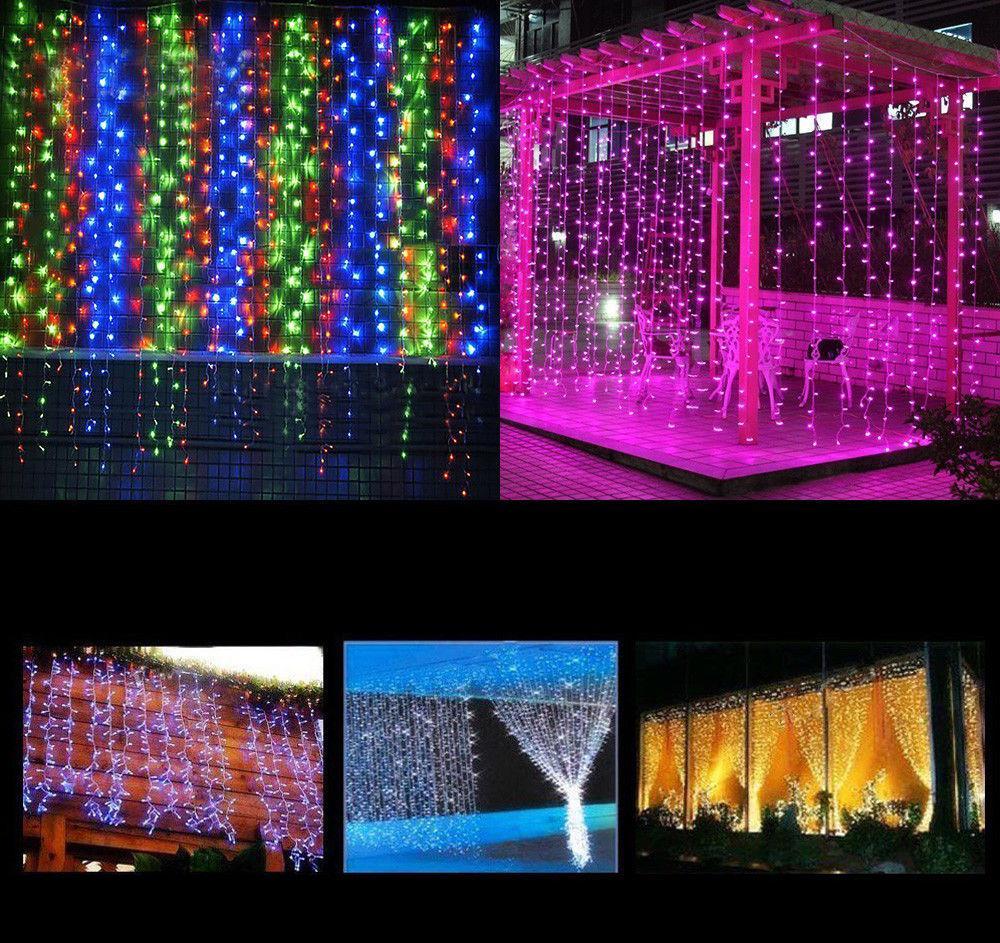 Cordas da festa de casamento New LED Cortina de Luz de Luzes Garden Home Curtain
