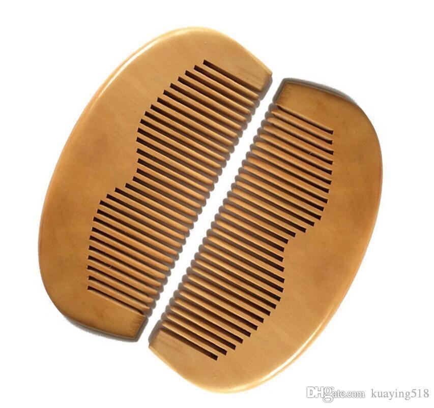 Kundenspezifisch Gravierte Ihr Logo Natürliche Pfirsich Holzkamm Bartkamm Taschenkamm 11.5 * 5.5 * 1cm