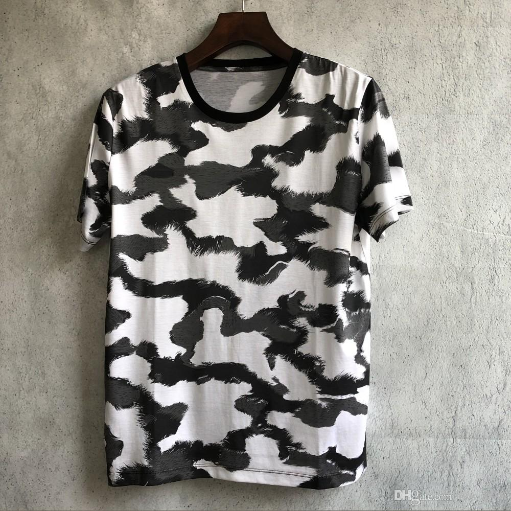 T-shirt en coton à manches courtes pour hommes, impression numérique