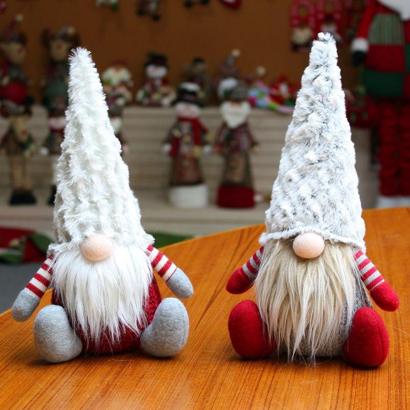 Boneca de Natal Brinquedos Papai Noel Árvore de Natal Pendurado Ornamento Decoração para Home Xmas Party Gnome Anão Navidad Christma Presite DA078