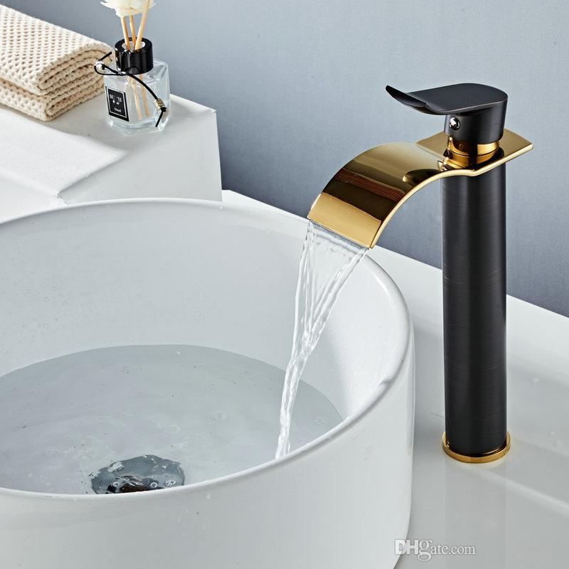 Kitchen Bathroom Tap Basin Faucets Black Oil Brushed//Rose Gold Bathroom Faucet Basin Tap Rotate Single Handle Hot and Cold Water Mixer Taps Crane,Rose Gold