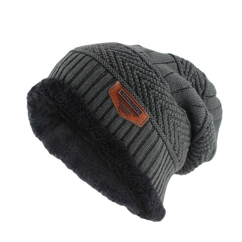 Men Warm Soft Fleece Winter Cap Melon Hat Beanie Windproof Casual Fisherman Caps
