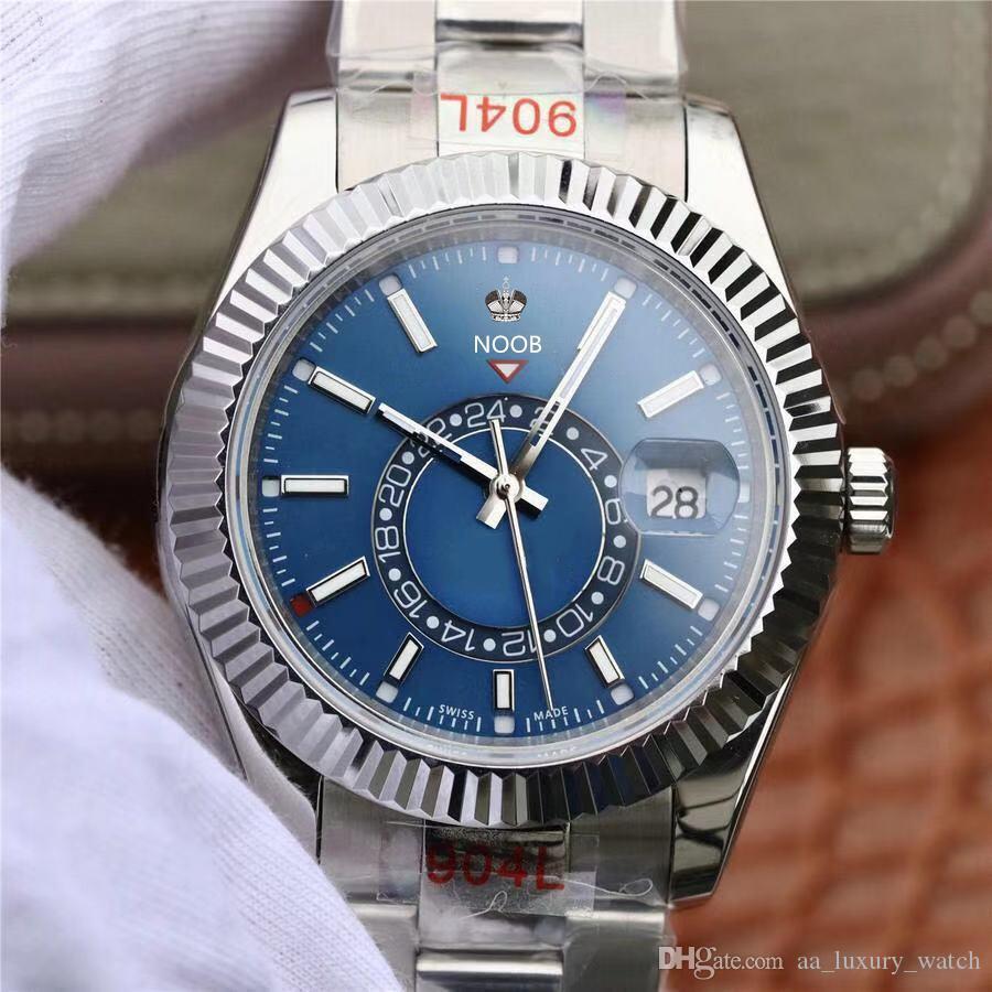 Ski-005 reloj de lujo 9001 movement watches 42mm designer watches waterproof sweat proof steel strap folding buckle