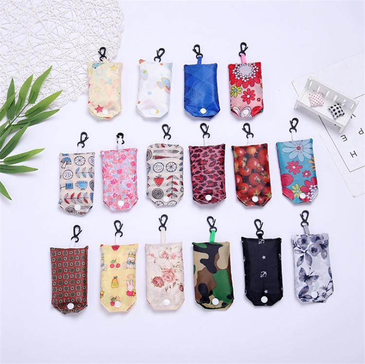 Mode pliant Sac en nylon pliable Sacs pliante réutilisable écologique Sac à provisions Sacs nouveaux sacs de dames de stockage