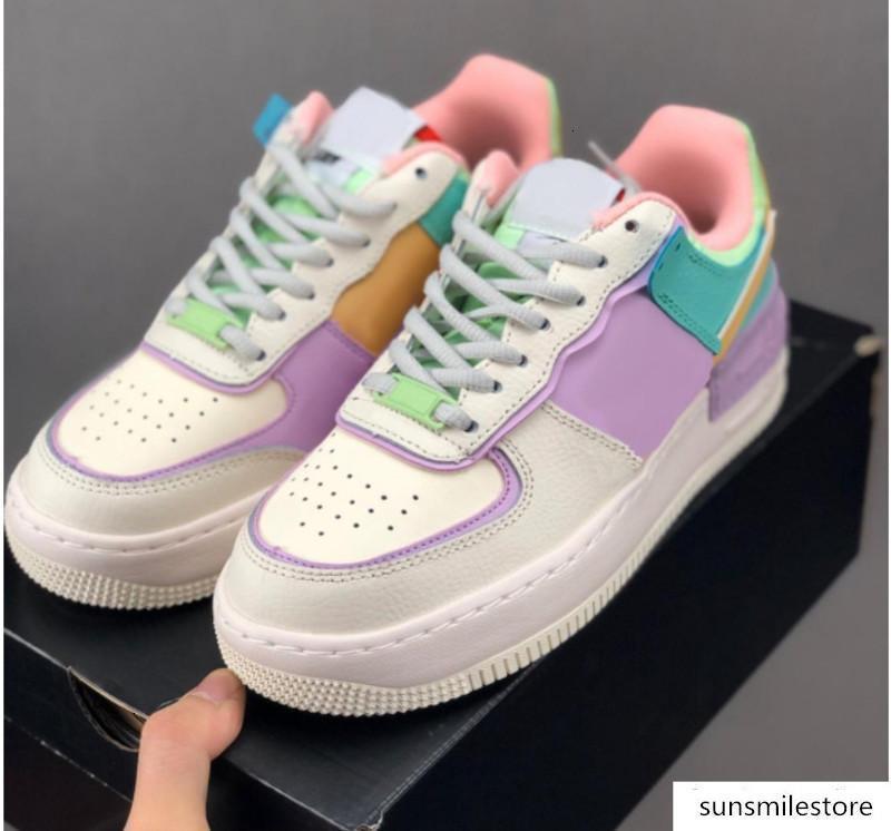 Neue Designer WMNS 07 Süßigkeit Macaron Frauen-Mädchen-beiläufige Schuh-1-Schatten Sport Utility Ein Skateboard Sacai Turnschuhe