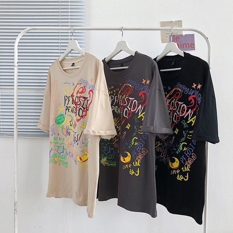 الرجال مصمم تي شيرت 100٪ عارضة الملابس kiddjs4f Stretchds الملابس الطبيعية القمصان السوداء القطن قصير الأكمام التي شيرت مخصص الكرتون الرجل