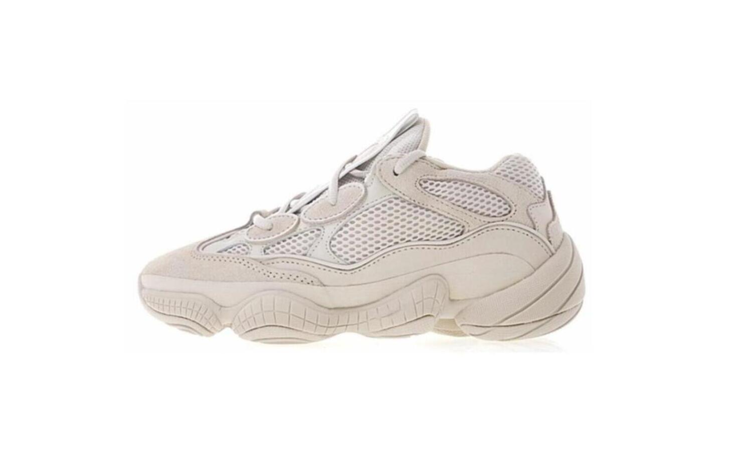 Com Box 2019 novo Kanye West 500 desenhista calça sapatas Running Utility Black Salt Super Lua amarela Blush Esporte Sneakers Tamanho 36-46 luoutdoor