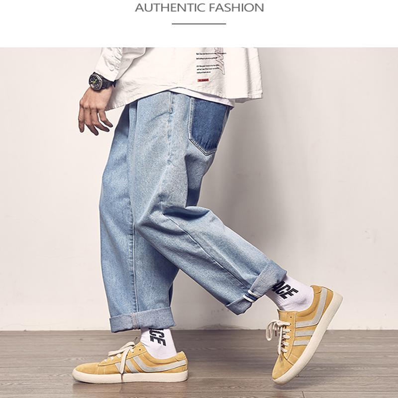 2019 outono verão soltas ganga nova moda casual masculina de jeans calças jeans masculinas