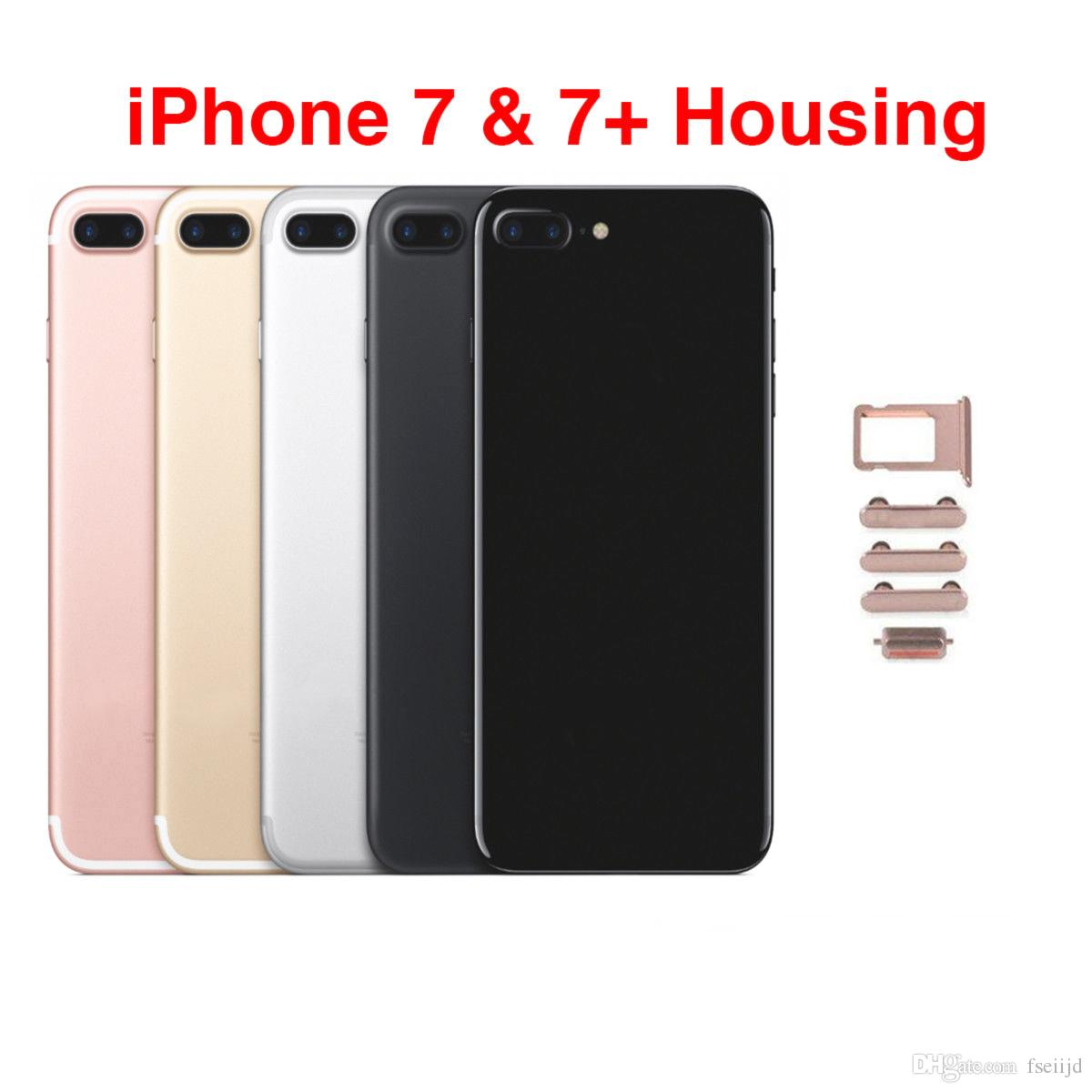 10Pcs For iphone 7 Plus Housing Middle Chassis Frame Back Door Battery Cover Case Replacement With Sim Card iMEi Battery Cover