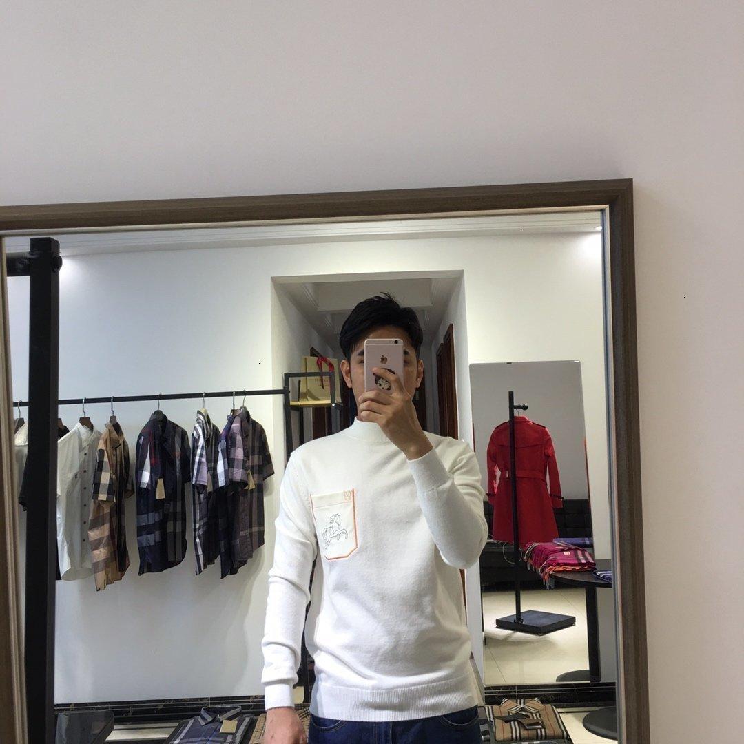 2019 de inverno dos homens da qualidade superior blusas homens Cardigan Malhas camisola Hoodies dos homens pullover 2901 * 0754morning_sun