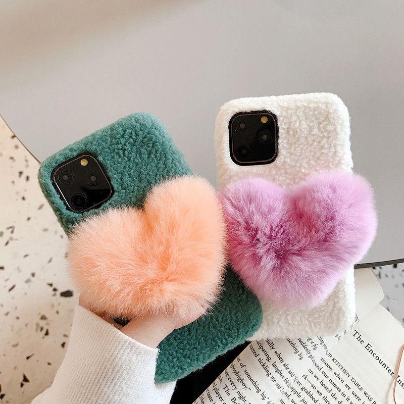 Inverno Plush Amor Telefone Capa Para IPhone11promax / Xr Mobile Phone Caso 8 / 7plus Casal ajusta o presente do 303