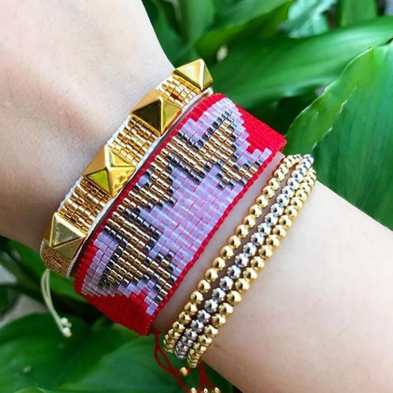 ZHONGVI MIYUKI Bracelet pour les femmes à la main d'or Rivet Bracelet Punk Bijoux Bracelets Mujer Moda Tassel Mode cadeau Instagram